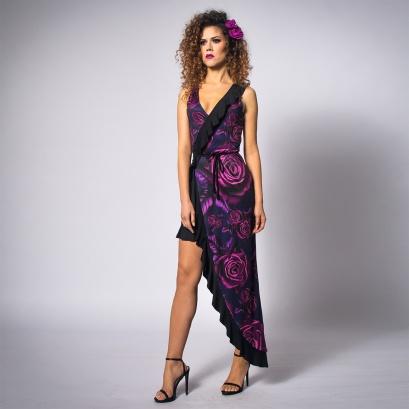 asymetryczna-sukienka-w-róże-1